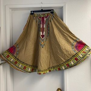 Beautiful Dashiki African Print Skirt OSFM